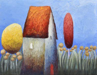 Къща с цветя